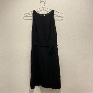 Moschino Black Midi Dress with Waist Tie